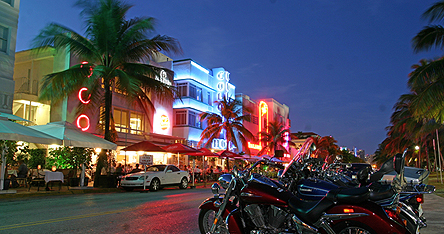 An image of Miami at night