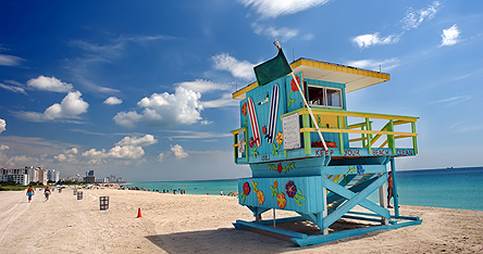 An image of a Miami beach