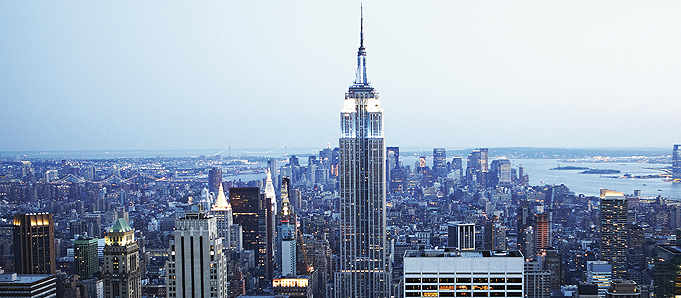 An image of a New York skyscraper