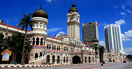 An image of some impressive buildings in Kuala Lumpur