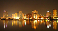 An image of Manila at night
