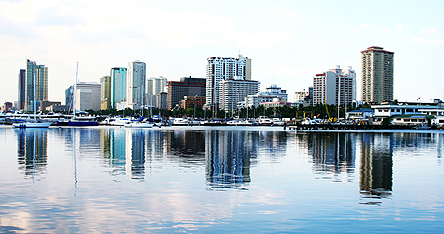 An image of a waterfront in Manila