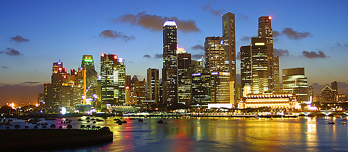 An image of Singapore at night