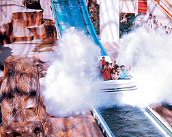 Circus Circus big drop water ride with splash