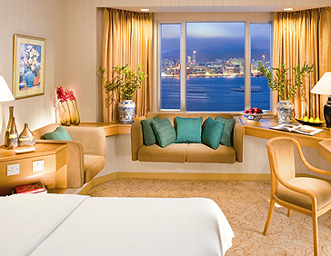 Excelsior, Hong Kong, Deluxe Room & Harbour View