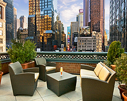 Novotel Times Square outdoor Terrace with wonderful views