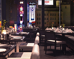 Novotel Times Square Restaurant & Terrace in the evening