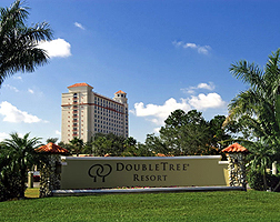 Doubletree Resort Exterior view in sunshine