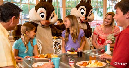 Disney Holidays Dining With Chip And Dale