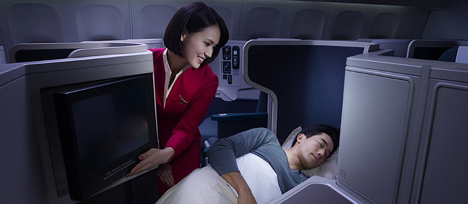 Cathay Pacific 05 Business Sleeping