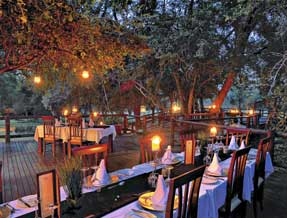 Shiduli Private Game Lodge dining options