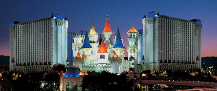 Excalibur exterior at night