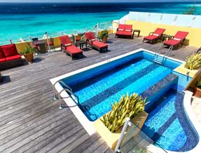 Roof Deck at Ocean Two Resort Barbados