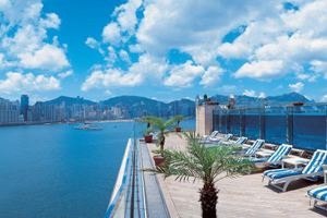 Sun terrace at Harbour Grand Kowloon