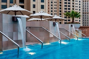 Pool area at Sofitel Dubai Jumeirah Beach