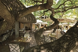Outdoor dining at Constance Belle Mare Plage