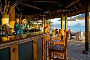 Beach bar at La Pirogue