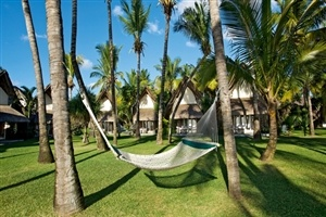 Relax in a hammock at La Pirogue