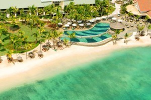 Ariel view of Le Meridien Ile Maurice, Mauritius