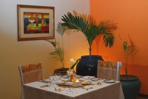Intimate dining at Tropical Attitude