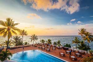 Pool views at Mount Lavinia Hotel