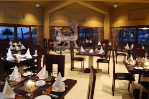 Formal dining at Tangerine Beach