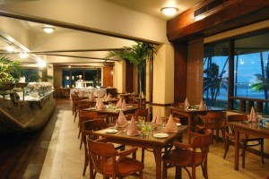 Main restaurant at Tangerine Beach hotel