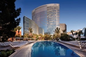 ARIA exterior and pool