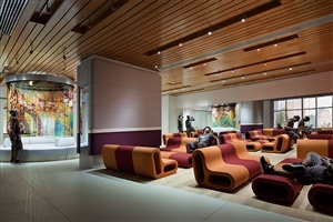 Lounge area at YOTEL New York