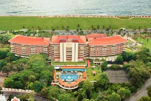 Aerial view of Taj Samudra