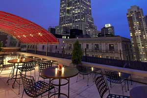 Rooftop terrace New York