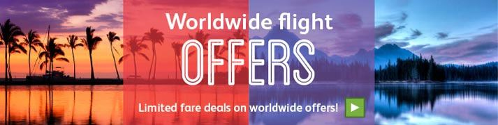Great deals on worldwide flights
