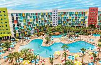 Universal's Cabana Bay Beach Resort pool area