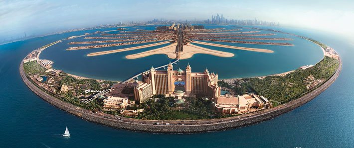 Atlantis the Palm overhead