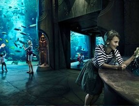 Lost chambers Aquarium at Atlantis The Palm
